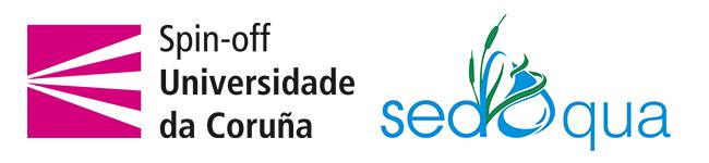 Logo Spin-off Universidade da Coruña y de la empresa Sedaqua